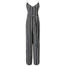 Buy Miss Selfridge Striped Button Front Jumpsuit, Multi Online at johnlewis.com