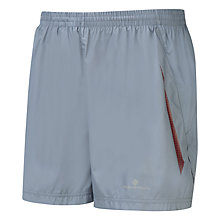 "Buy Ronhill Advance 5"" Running Shorts, Grey/Maroon Online at johnlewis.com"