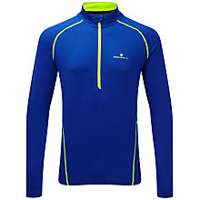 Buy Ronhill Thermal 200 Half Zip Base Layer Top, Cobalt/Fluorescent Yellow Online at johnlewis.com