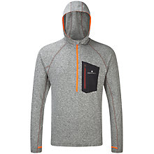 Buy Ronhill Long Sleeve Hooded Running Top, Grey Marl/Maroon Online at johnlewis.com