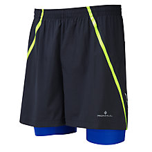"Buy Ronhill Advance 5"" Running Shorts, Black/Blue Online at johnlewis.com"