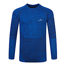 Buy Ronhill Long Sleeve Running Top, Cobalt/Black Online at johnlewis.com