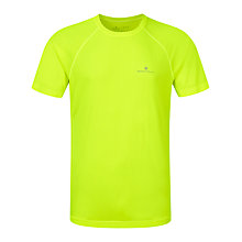 Buy Ronhill Vizmotion Short Sleeve Running Top, Fluorescent Yellow Online at johnlewis.com