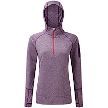 Buy Ronhill Long Sleeve Hooded Running Top, Elderberry/Coral Online at johnlewis.com