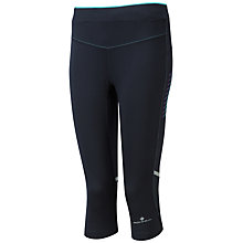 Buy Ronhill Powerlite Stretch Running Capris, Elderberry/Coral Online at johnlewis.com
