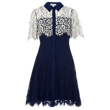 Buy Whistles Charlotte Shirt Dress, Navy Online at johnlewis.com