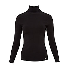 Buy Ted Baker Fitted Roll Neck Jumper, Black Online at johnlewis.com