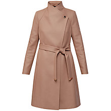 Buy Ted Baker Aurore Long Wrap Coat, Camel Online at johnlewis.com