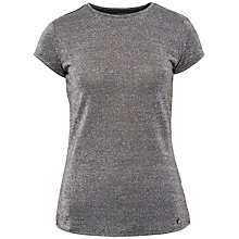 Buy Ted Baker Sparkle Fitted T-Shirt, Silver Colour Online at johnlewis.com