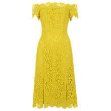 Buy Whistles Off Shoulder Lace Dress, Yellow Online at johnlewis.com