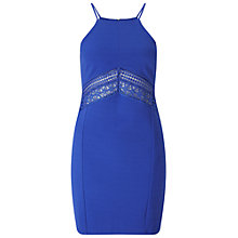 Buy Miss Selfridge Petites Lace Dress, Blue Online at johnlewis.com