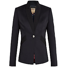 Buy Ted Baker Ottoman Detail Neoprene Blazer, Black Online at johnlewis.com