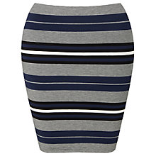 Buy Miss Selfridge Petite Striped Mini Skirt, Navy Online at johnlewis.com