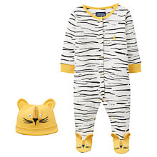 Buy Baby Joule Pride Lion Sleepsuit and Hat Set, Cream Online at johnlewis.com