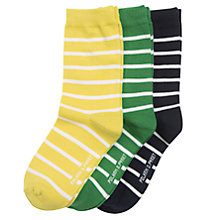 Buy Polarn O. Pyret Children's Striped Socks, Pack of 3 Online at johnlewis.com