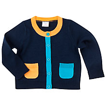 Buy Polarn O. Pyret Baby Cardigan, Blue Online at johnlewis.com