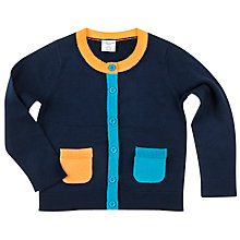 Buy Polarn O. Pyret Boys' Pocket Cardigan, Blue Online at johnlewis.com