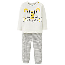 Buy Baby Joule Byron Tiger T-Shirt And Leggings Set, Cream Online at johnlewis.com