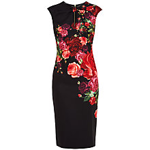 Buy Ted Baker Mirrie Juxtapose Rose Knot Dress, Black Online at johnlewis.com