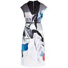Buy Ted Baker Artistic Splash Midi Dress, Black Online at johnlewis.com