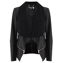 Buy Mint Velvet Waterfall Jacket, Black Online at johnlewis.com