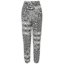 Buy Miss Selfridge Monochrome Print Jogger, Black Online at johnlewis.com