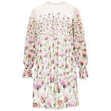 Buy Ted Baker Deasil Thistle Sheer Dress, Cream Online at johnlewis.com