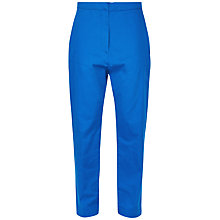 Buy Jaeger Patch Pocket Cropped Trousers, Bright Blue Online at johnlewis.com