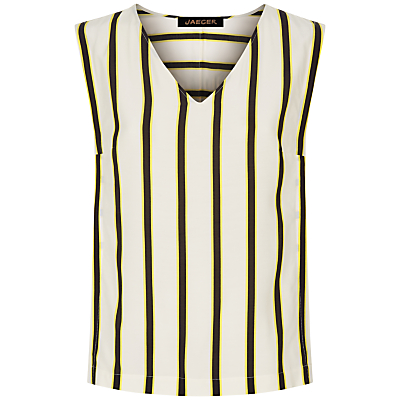 Jaeger Bi Colour Striped Top, Multi/Camel