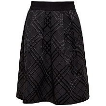 Buy Ted Baker Check Bow Full Skirt, Black Online at johnlewis.com