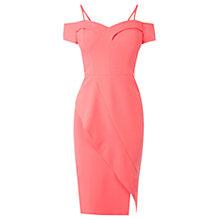 Buy Coast Briody Bardot Shift Dress, Coral Online at johnlewis.com
