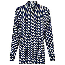 Buy Whistles Foulard Print Shirt, Blue/Multi Online at johnlewis.com