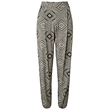 Buy Miss Selfridge Tile Print Jogger, Khaki Online at johnlewis.com