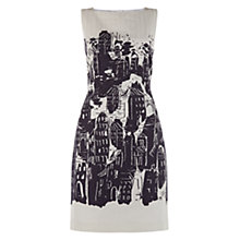Buy Hobbs Ceriana Column Dress, Ivory/Navy Online at johnlewis.com