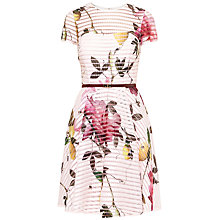 Buy Ted Baker Camari Citrus Bloom Mesh Dress, Nude/Multi Online at johnlewis.com