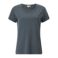 Buy Jigsaw Garment Dyed Crew Neck T-shirt, Petrol Online at johnlewis.com