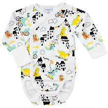 Buy Polarn O. Pyret Baby Dino Town Bodysuit, Yellow Online at johnlewis.com
