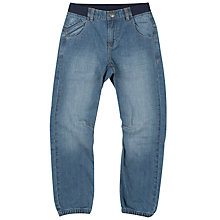 Buy Polarn O. Pyret Boys' Cuff Jeans, Blue Online at johnlewis.com