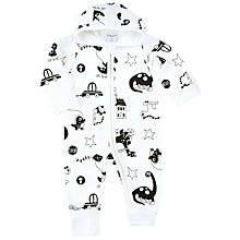 Buy Polarn O. Pyret Baby Romper Playsuit, White Online at johnlewis.com