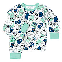 Buy Polarn O. Pyret Baby Friendly Ghost Pyjamas Online at johnlewis.com