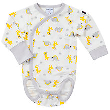 Buy Polarn O. Pyret Baby Dinosaur Bodysuit, Grey Online at johnlewis.com