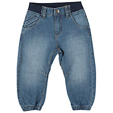 Buy Polarn O. Pyret Baby Cuff Jeans, Blue Online at johnlewis.com