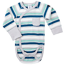 Buy Polarn O. Pyret Baby Striped Bodysuit, Multi Online at johnlewis.com
