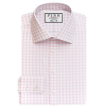 Buy Thomas Pink Goodall Check Classic Fit XL Sleeve Shirt, White/Pink Online at johnlewis.com