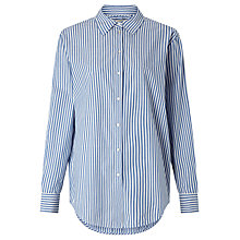 Buy Maison Scotch Longline Stripe Shirt, Blue Online at johnlewis.com