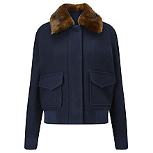 Buy Samsoe & Samsoe Louch Bomber Jacket, Dark Sapphire Online at johnlewis.com