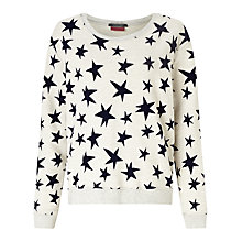 Buy Maison Scotch Star Sweatshirt, Cream Online at johnlewis.com