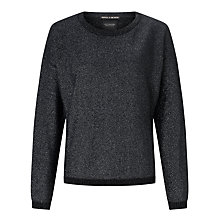 Buy Maison Scotch Sparkle Metallic Knit Jumper, Star Dust Online at johnlewis.com