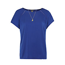 Buy Maison Scotch Ladder Tape Detailed Top, Cobalt Online at johnlewis.com