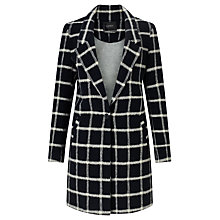 Buy Maison Scotch Bonded Wool Check Coat, Navy Online at johnlewis.com